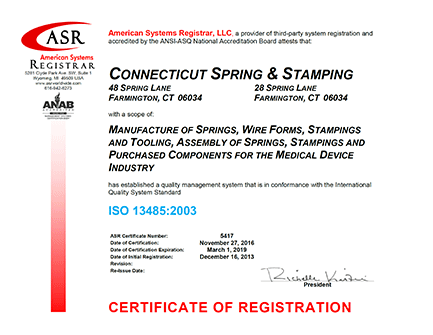 Quality Certifications and Compliance - Connecticut Spring ...